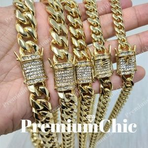 Men's Miami Cuban Link Chain Bling Diamond Clasp